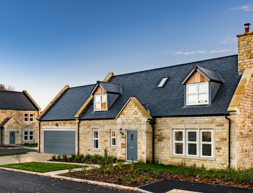 Houses complete at luxury development in Lesbury